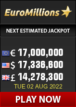 Play EuroMillions lotto - win up to 183 million Euro