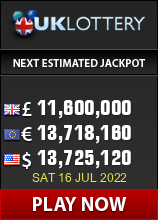 Current UK lottery jackpot image