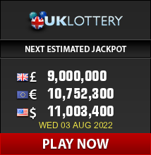 Play UK lottery - win up to 42 million Pounds