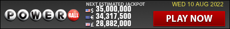 US Powerball current jackpot image