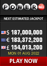 Play the biggest USA Lotteries - powerball is one of the two largest lotto games in the USA